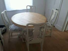 Country table and 4 chairs