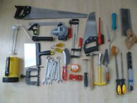 Job lot of hand tools