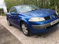Renault megane 1.6 convertible mot low miles spares or repair