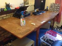 Solid old wooden dinning table or desk