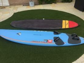 Mistral Equipe imco race board complete with Hookipa Short Board