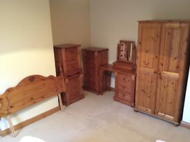 7 piece pine bedroom furniture set