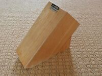 Solid Wood Wooden Knife Block Stand Kitchen Knife Storage