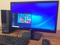"***FULL SET DELL i3 3.30Ghz Windows 10 PC, HDMI, Office + 22"" LG FULL HD Monitor Desktop PC Computer"