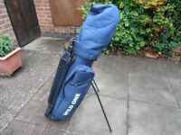 """THE """" WILD ONE. """" Golf CARRY / CART BAG, In Blue,"""