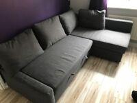 Ikea - Corner sofa-bed with storage
