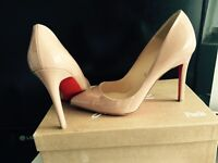 Christian louboutin nude pigalle 100mm