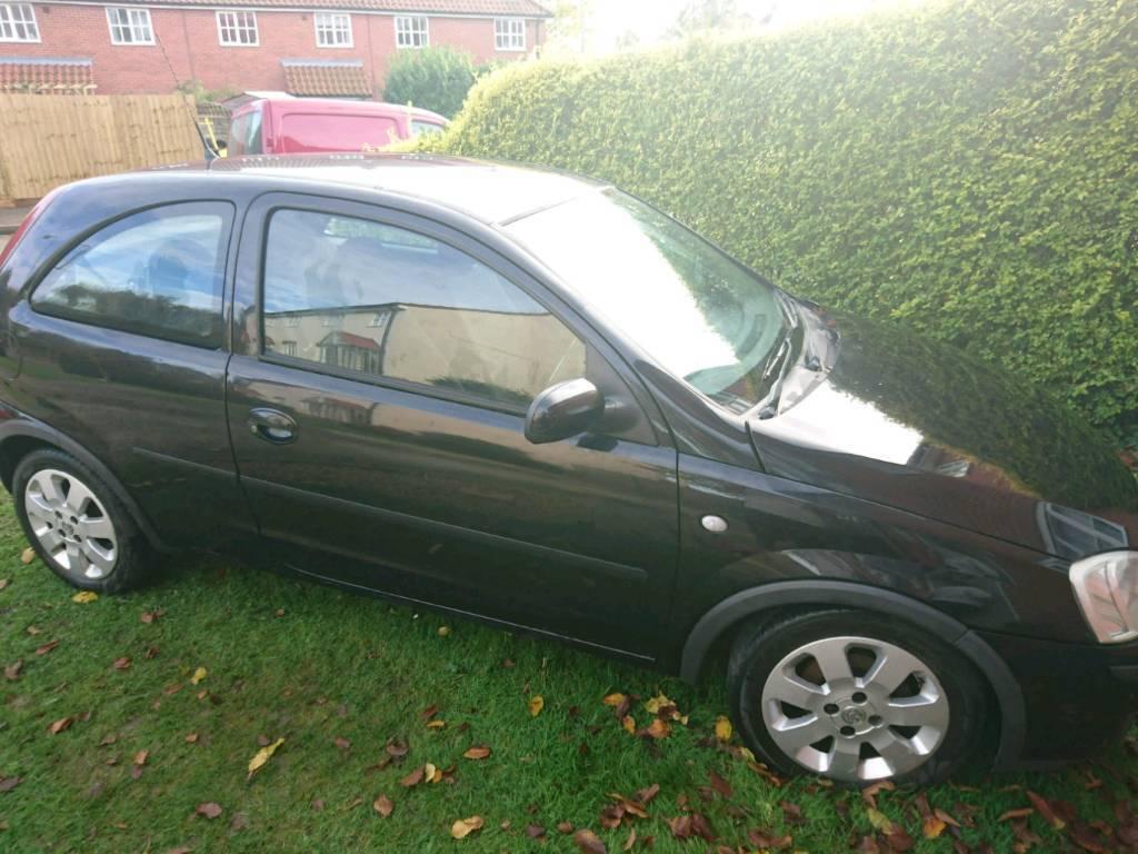 Vauxhall corsa 1.2, 3 door Black