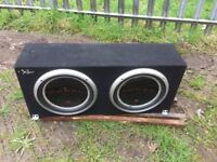 Punch subwoofer and amp got all wiring and cable mint sound system £40