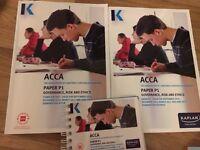 ACCA P1 Kaplan full study kit