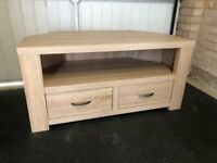 Oak effect Corner TV Stand