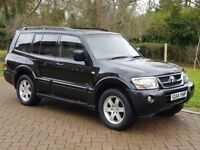 MITSUBISHI SHOGUN WARRIOR AUTO 3.2DID+ BLACK LEATHER 7 SEATER