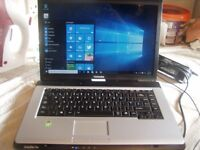 Toshiba Laptop: 120GB : Dual Core 1.60 Ghz : 1GB RAM : Win 10 : Activated Office 2007