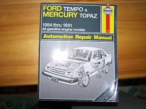 Ford Tempo and Mercury Topaz Shop manual