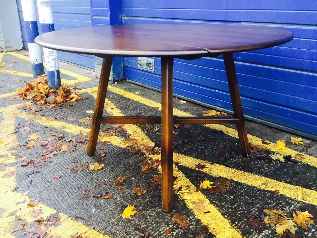 VINTAGE ERCOL DROP LEAF DINING TABLE - Antique Vintage Retro
