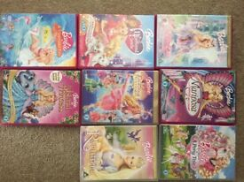 8 x Barbi DVD's