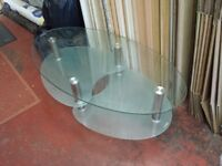 glass 3 tier coffee table