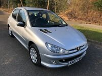 PEUGEOT 206 1.4 LOOK 5 DR 07 REG IN SILVER, ONLY 71,000 MILES WITH SERVICE HISTORY AND MOT FEB 2019