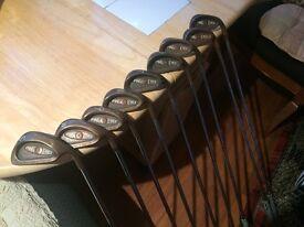 Ping Berillyum Copper Irons, 3 - S/W, 9 irons, True Temper steel shafts, New Lamkin Grips