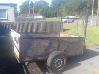 Small wooden car trailer in need tlc