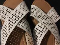White sparkly sandals