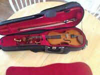 1/4 violin with broken neck