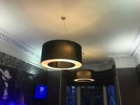 Large drum lampshades