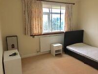 Extra large single room in friendly house, 2 min walk to Hounslow rail & 5 min walk to High Street
