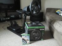 Xboxone steering wheel /pedals/custom stand and Forza Horizon 3