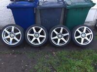 ford escort,fiesta,focus,puma 17 inch multistud alloys,£100,no offers