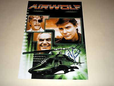 "AIRWOLF PP SIGNED 12""X8"" POSTER JAN - MICHAEL VINCENT"