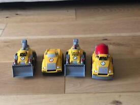 Mega bloks set of four cars / trucks