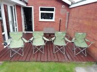 4 x folding camping chairs