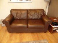 2 Seater Lounge Leather Sofa