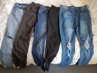 5 pairs of jeans, size UK14