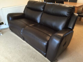 3 Seater Lether Recliner Sofa
