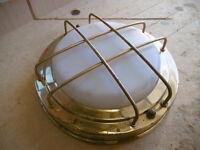 Brass bulkhead lamp