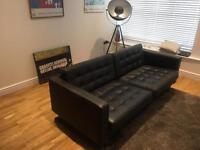 Landskrona ikea 3 seater black sofa
