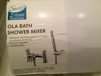 SWIRL OLA DECK-MOUNTED BATH/SHOWER MIXER (3619C) : £80 NEW IN SCREWFIX - UNUSED AND BOXED £60