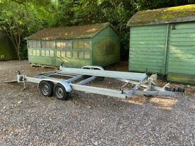 Car Transporter Trailer Twin Double Axle 4 Wheel + Winch And Suspension Braked