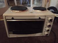 Electric hob/fan oven