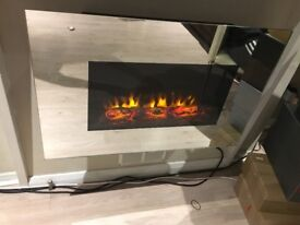 Electric fire place with different light setting and heating