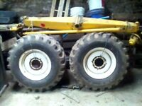 Combine rear tyres and rims 16/70-20 part worn plus axle