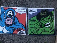 Superhero canvas prints
