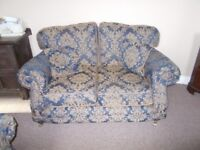 3 Piece Suite, Sofa + 2 Arm Chairs with Casters