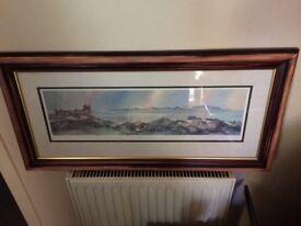 Signed framed numbered print