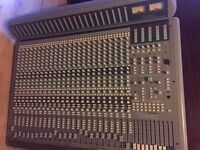 Sountracs Topaz 24/8/2 Mixing desk with Meterbridge, stand, PSU, patchbays and looms.