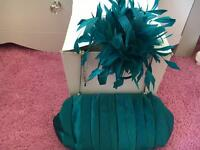 Coast fascinator and bag