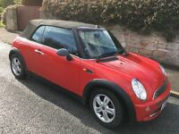 Mini One Convertible 1.6l in Red. Low Mileage/2 owners/Very good condition. With guarantees 👍