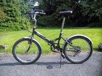 "Unisex adult 20"" folding commuter bike - excellent condition - FOR SALE"